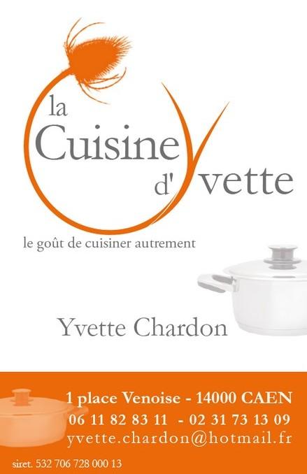 Carte de Visite de la Cuisine d'Yvette