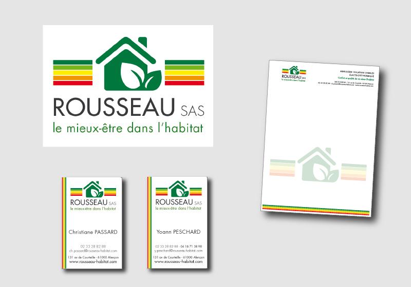 """Logo et Déclinaison graphique """"Rousseau"""""""