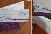Faire-Part de mariage - violet et turquoise
